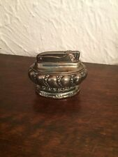 Vintage RONSON Table Lighter Silver PLATE Old Heavy Paperweight Pipe Smoking