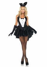 Ladies Sexy Playboy/Bunny Girl Costume Size 10-12 Dress Ears Thong Gloves 11181
