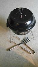 Harley Davidson  Charcoal BBQ Grill * Carrying Case * Goes Into  Saddle Bag