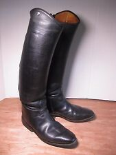 "Mens "" Petri "" black Leather Equestrian Riding Boots w zippers sz 10 USA"
