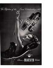 Vintage Magazine Print Ad 1946 Marvin Swiss Watch