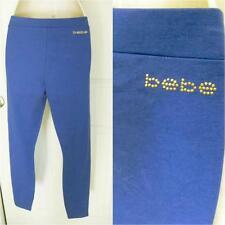 BEBE LOGO ROYAL BLUE BASIC LEGGING PANTS NEW NEW $69 SMALL S
