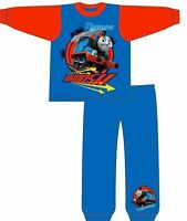 NEW BOYS KIDS OFFICIAL THOMAS AND FRIENDS LONG SLEEVE PYJAMAS SET BLUE AGE 1 2