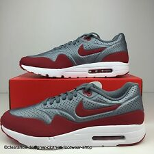 NIKE AIR MAX 1 ULTRA MOIRE TRAINERS MENS CASUAL GREY RED SHOES UK 12 RRP £130