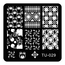 HOT Manicure TU Nail Stamping Plate Stainless Steel Nail Art Stamp Template T-29