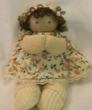 Jan Shackelford Doll 1991 Little Girl with blue eyes curly and brown hair