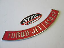 67 68 69 70 CAMARO AWESOME CHROME STEEL 454 450HP AIR CLEANER DECAL EMBLEM
