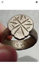 1100-1200 ad authentic ancient byzantine médiévale silver ring artefact