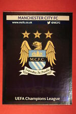 PANINI CHAMPIONS LEAGUE 2013/14 N. 260 BADGE MANCHESTER C. BLACK BACK MINT!