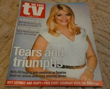UK DAILY MIRROR WE LOVE TV MAG Holly Willoughby 18-24 October 2014