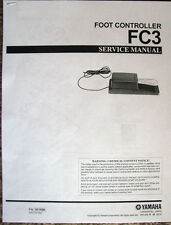 Service Manual and Parts List for the Yamaha FC3 Foot Controller Sustain Pedal