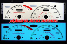 6 COLOR GLOW GAUGES FOR HONDA PRELUDE 92-96 93 94 1992-1995 1993 1994 VTEC MT