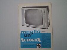 advertising Pubblicità 1960 TELEVISORE AUTOVOX MOD. 891