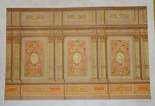 GRANDE Litho BOISERIE ALLEGORIE ANGE ART ORNEMENT DÉCORATION 1870 NAPOLÉON III