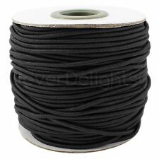 Black Elastic Cord - 10 Yards - 2mm - Stretch Cording Craft Jewelry Beading