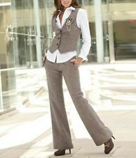 Women's Bespoke Vest+Pants Business Office Suits Slim Fit Formal Ladies Tuxedos