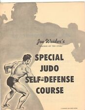JOE WEIDER Special JUDO Self Defense  Course bodybuilding muscle program 1959