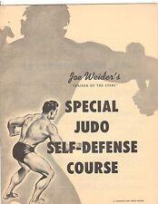 JOE WEIDER Special JUDO Self Defense  Course bodybuilding muscle program 1959