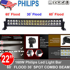 "Philips 22inch 160W Led work Light Bar Ute Suv ATV Off road Truck tractor 20""/24"
