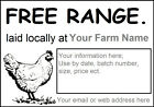 Large White Self Adhesive EGG BOX Labels, Personalised For Free, Chicken Duck