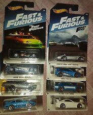 2017 Hot Wheels Fast and Furious Walmart Exclusive complete set of 8
