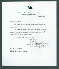 Samuel Gravely Signed Letter 1st African American to Command a US Navy Warship