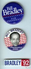 3 Bill BRADLEY pins basketball NBA President 1992  2000