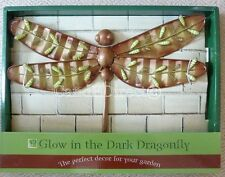 Large Glow In The Dark Metal Dragonfly Garden Decoration Wall Art NEW