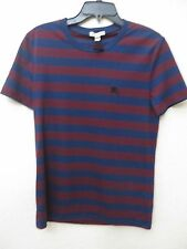 BURBERRY Brit Men's Torridge Burgundy Red Check Cotton Short SleeveT -shirt Tee