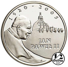 POLAND 10 Zlotych 2005 Pope John Paul II Silver Proof Coin Polish Mint + GIFT