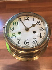 Vintage Solid Brass Ships Clock Nautical Maritime Marine Boat