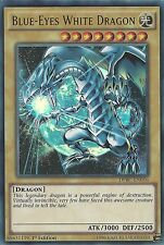 YU-GI-OH CARD: BLUE-EYES WHITE DRAGON - ULTRA RARE - DPBC-EN016 - 1st EDITION