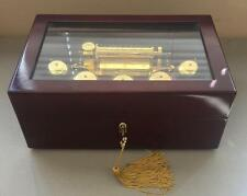 Mr Christmas Gold Label Concertina 5 Bells 50 Songs Wooden Box