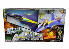 MOTOR MAX BATTLE ZONE ELECTRONIC F-22 RAPTOR FIGHTER JET w/ ONE POSEABLE FIGURE