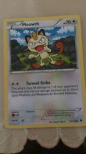 Meowth Pokemon Card COMMON [FATES COLLIDE]