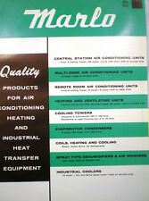 MARLO COIL Company Air Conditioning A/C Catalog ASBESTOS Mastic Heating 1960's