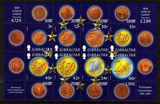 GIBRALTAR MNH 2002 MS995 INTRODUCTION OF THE EURO MINISHEET