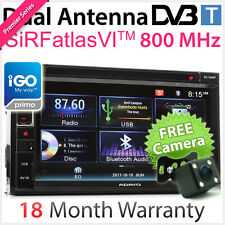 "6.75"" Double 2 DIN Car DVD GPS Player DVB-T MPEG-4 Stereo Radio USB GO Primo TU"