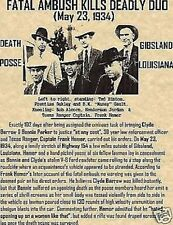 BONNIE AND CLYDE!BARROW,PARKER,BANK ROBBER,CLYDE,GANG,AMBUSH,FBI,OUTLAW,POLICE
