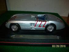 Maisto 1955 Mercedes Benz 300 SLR Millie Miglia on Stand in 1/18 Scale