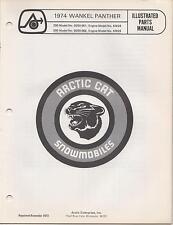 1974 ARCTIC CAT SNOWMOBILE WANKEL PANTHER PARTS MANUAL (584)