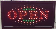 "OPEN LED SIGN 19""x10"" with Power On/Off swicth and Animation On/Off Switch"