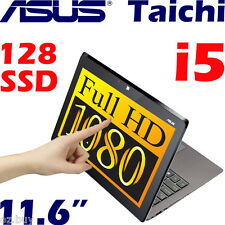 "Asus Taichi Convertible 2-in-1 Laptop/Tablet Core i5 11.6"" FHD Touch 128G SSD 4G"