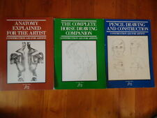 Construction Aid For Artists - Anatomy, Horses, Pencil Drawing - 3 bks M Hughes