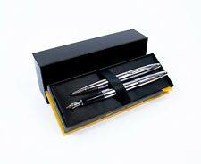 Cross Calais Fountain & Ballpoint Pen Set - Lustrous Chrome
