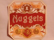Authentic Antique Cigar Box  Label Nuggets embossed  Free Shipping  #232