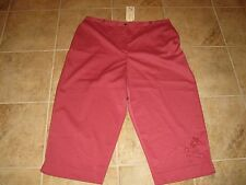 WOMENS SIZE 20 RASPBERRY RED/ PINK  CAPRI PANTS BY ALFRED DUNNER **NWT**