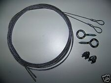 Garage Door SAFETY CABLE KIT For EXTENSION SPRING DOORS 7' or 8' TALL DOORS