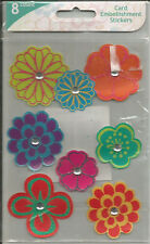 Colorbok Glitter Floral Embellishment Stickers 8pc