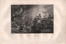 C1850 Victoriano impresión ~ el asedio de Gibraltar Batalla naufragio Canon
